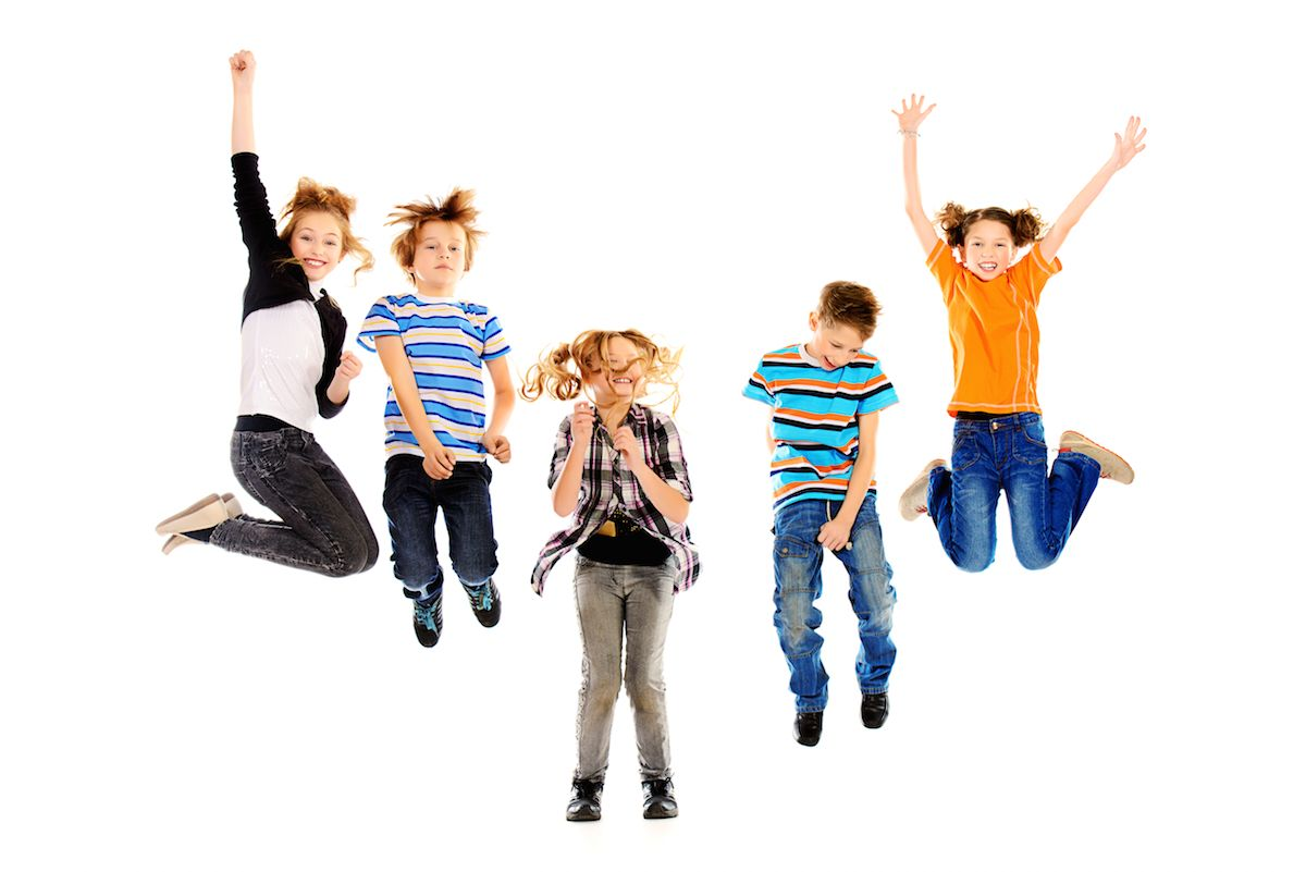 Dzieci skaczące w JUMPCITY